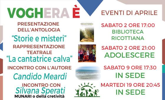 Calendario Eventi di Aprile
